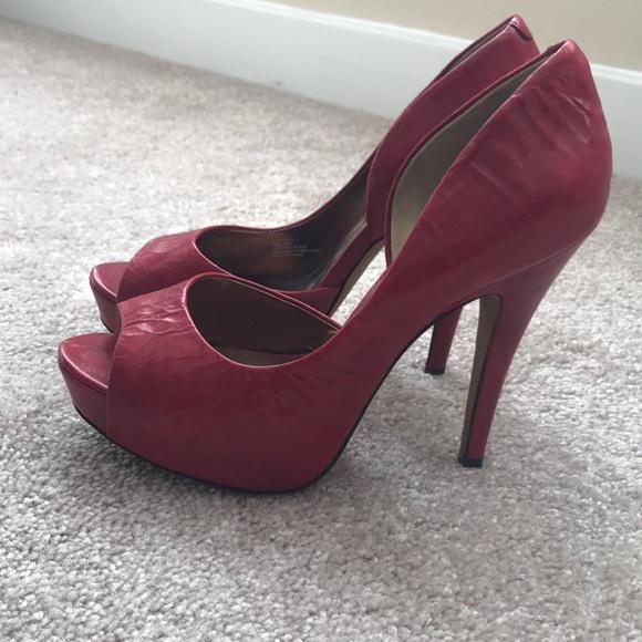 Jessica Simpson Shoes | Red Peep Toe